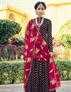 image of Party Style Jacquard Fabric Floor Length Navy Blue Anarkali Suit