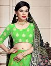 photo of Art Silk Fabric Green Color Sangeet Wear 3 Piece Weaving Work Lehenga With Enigmatic Blouse