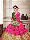 photo of Rani Color Art Silk Fabric Wedding Wear Weaving Work Chaniya Choli With Beautiful Blouse