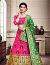 image of Rani Color Art Silk Fabric Wedding Wear Weaving Work Chaniya Choli With Beautiful Blouse