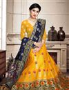 photo of Art Silk Fabric Sngeet Wear 3 Piece Lehenga Choli In Yellow Color