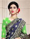 photo of Art Silk Fabric Reception Wear Lehenga Choli In Green Color With Weaving Work
