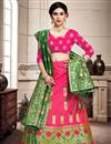 image of Rani Color Art Silk Fabric Sangeet Wear Lehenga Choli