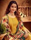 photo of Occasion Wear Yellow Color Embroidered Palazzo Salwar Kameez In Viscose Fabric