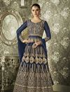 image of Festive Special Designer Long Anarkali Suit In Art Silk With Embroidery Work