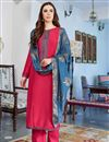 image of Cotton Silk Fancy Embroidered Casual Wear Salwar Kameez In Pink