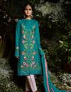 image of Best Selling Straight Cut Georgette Embroidered Straight Suit With Pants