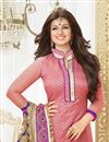 photo of Ayesha Takia Pink Straight Cut Salwar Kameez-68005