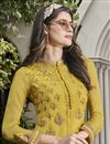 photo of Designer Fancy Fabric Embroidered Function Wear Gown In Yellow