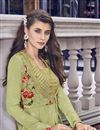 photo of Eid Special Designer Sea Green Embroidered Function Wear Gown In Fancy Fabric