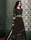 image of Black Georgette Occasion Wear Artistically Embroidered Anarkali