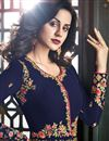photo of Designer Embroidered Long Anarkali Salwar Kameez In Georgette