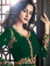 photo of Occasion Wear Dark Green Embroidered Long Anarkali Salwar Kameez