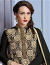 photo of Festive Wear Georgette Designer Salwar Kameez In Black Color With Embroidery Work