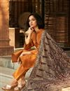 photo of Party Wear Maroon Color Velvet Fabric Shawl Style Embroidered Designer Dupatta