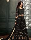 image of Black Georgette Occasion Wear Charming Embroidered Anarkali Suit