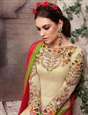 photo of Cream Pakistani Style Georgette Salwar Kameez