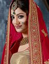photo of Urvashi Rautela Red Embroidered Saree-9003