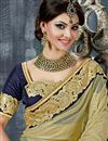 photo of Urvashi Rautela Cream Lycra-Net Designer Sari-9008