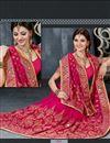 photo of Urvashi Rautela Pink Embroidered Saree-9009