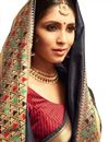 photo of Attractive Weaving Work On Silk Fabric Function Wear Designer Saree In Black Color