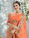 photo of Designer Peach Color Festive Wear Art Silk Saree With Beautiful Weaving Work