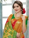 photo of Festive Wear Designer Saree In Red Color Weaving Worked Art Silk
