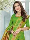 photo of Designer Green Color Festive Wear Art Silk Saree With Beautiful Weaving Work