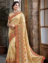 image of Party Wear Stunning Cream Color Bhagalpuri And Silk Saree