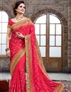 image of Designer Crepe And Silk Party Wear Saree In Pink Color