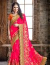 image of Alluring Pink Color Crepe And Silk Party Wear Designer Saree