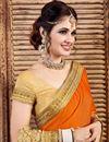 photo of Orange Color Party Wear Lycra Designer Saree