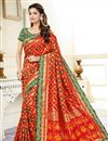 image of Uppada Silk Fancy Traditional Wear Red Weaving Work Saree