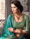 photo of Traditional Party Wear Silk Saree In Green Color