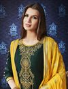 photo of Cotton Festive Wear Fancy Embroidered Patiala Dress In Green