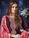photo of Cotton Fancy Festive Wear Embroidered Patiala Dress In Purple