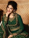 photo of Green Georgette Function Wear Embroidered Anarkali Suit