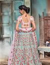 photo of Embroidered Occasion Wear Lehenga In Pink Satin Fabric