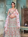 image of Embroidered Occasion Wear Lehenga In Pink Satin Fabric