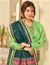 photo of Ayesha Takia Straight Cut Salwar Kameez In Sea Green With Embroidery Work