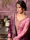 photo of Embroidered Designer Pink Straight Dress In Georgette With Fancy Dupatta