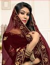 photo of Embellished Fancy Sangeet Wear Lehenga In Velvet