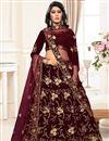 image of Embellished Fancy Sangeet Wear Lehenga In Velvet