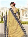 picture of Cotton And Silk Traditional Templewear Saree In Cream