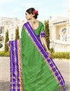 picture of Cotton And Silk Pujawear Traditional Fancy Saree In Green