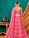 photo of Eid Special Embroidered Pink Color Occasion Wear Lehenga In Net Fabric With Designer Choli