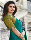 photo of Prachi Desai Designer Cyan Fancy Fabric Party Wear Saree With Border Work