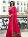 image of Prachi Desai Party Wear Saree In Fancy Fabric Pink With Border Work