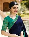 photo of Prachi Desai Winsome Fancy Fabric Navy Blue Festive Wear Saree
