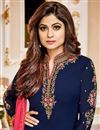 photo of Festive Special Shamita Shetty Party Wear Straight Cut Churidar Dress In Georgette